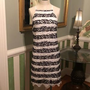 Black and white lace summer dress